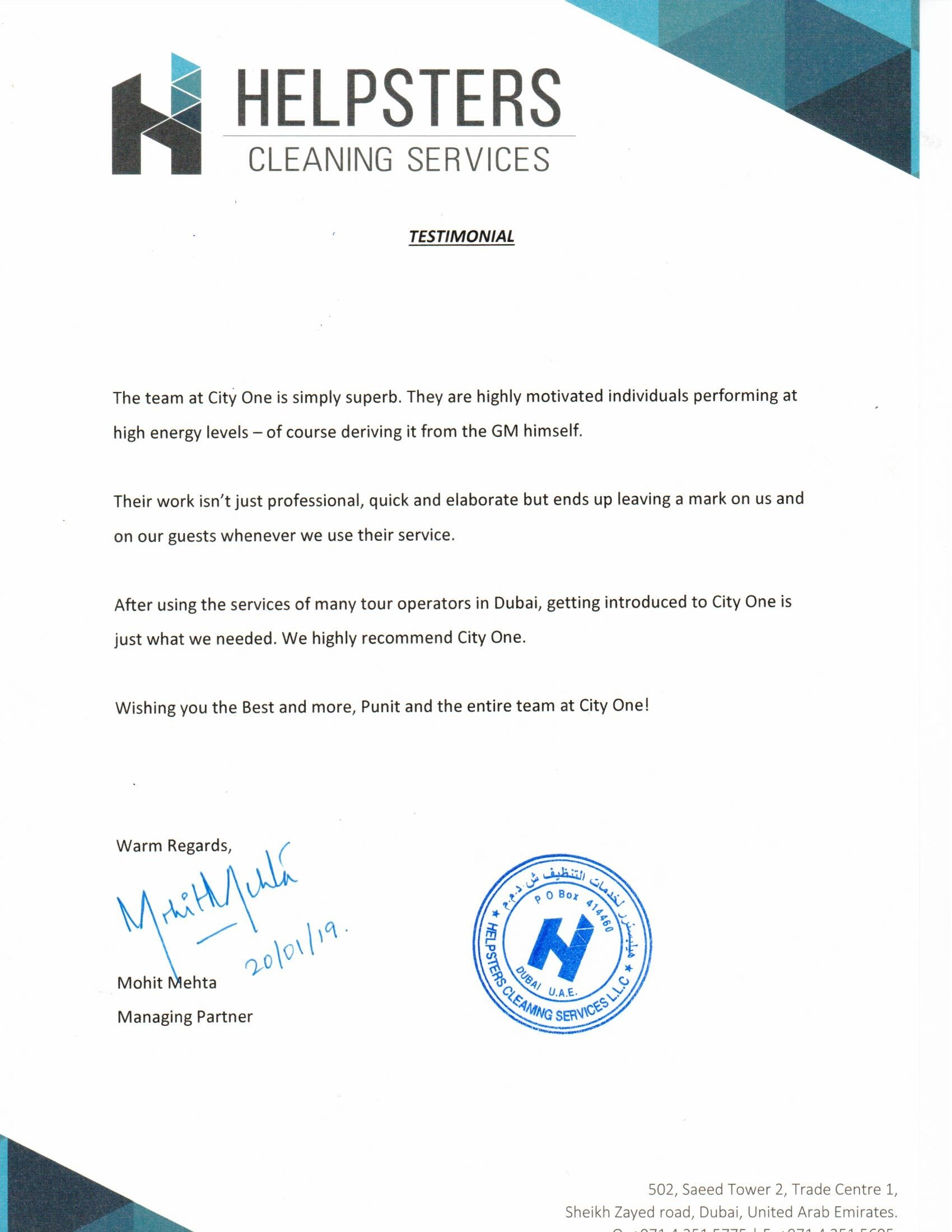 Helpsters Cleaning Services
