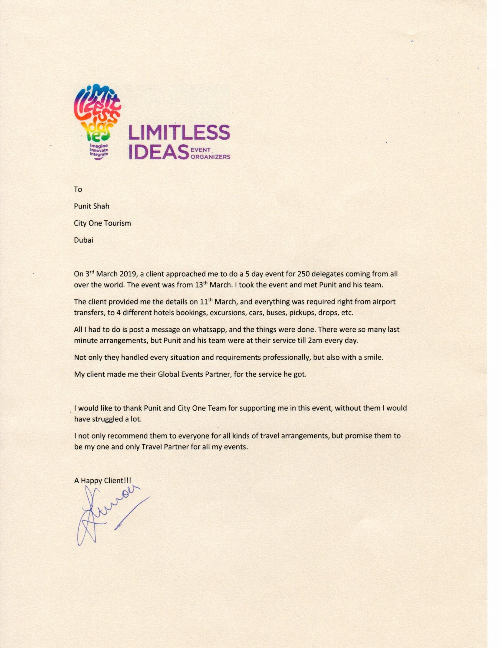 Limitless Ideas Event Organizers